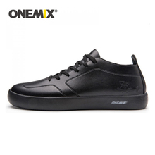 ONEMIX 2020 Men Skateboarding Shoes Lightweight Leather Lace-up Sneakers Sport Outdoor Casual Walking Shoes Trainers Size 39-45