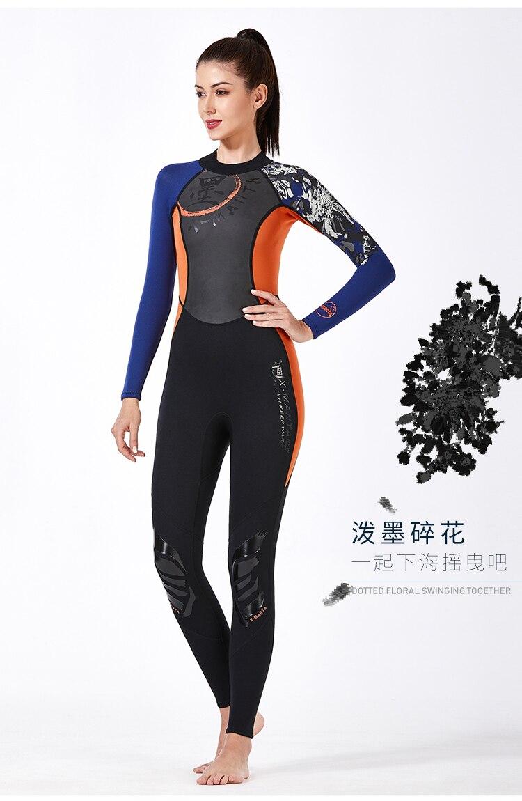 3mm neoprene wetsuit de corpo inteiro das
