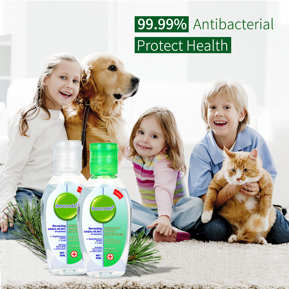 50ml Hand Sanitizer Contains 75% Antibacterial Gel Alcohol Disinfection Portable No-clean Refreshing Hand Care Hand Sanitizer