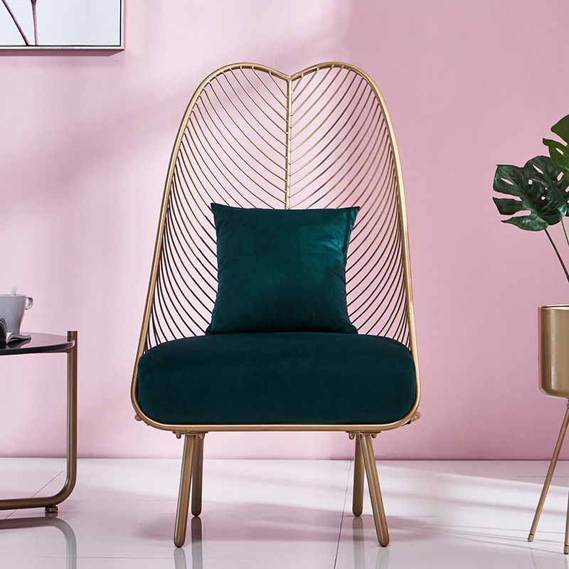 2019 New Metal Steel Leisure Chair Iron Wire chair Hollow Dining Coffee Metal Bar Chairs Living Room Furniture 3 Colors