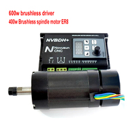 400W 48V DC Motor Air cooled Spindle Brushless ER8 600W 60VDC Brushless Motor Driver With Hall for CNC Router Machine