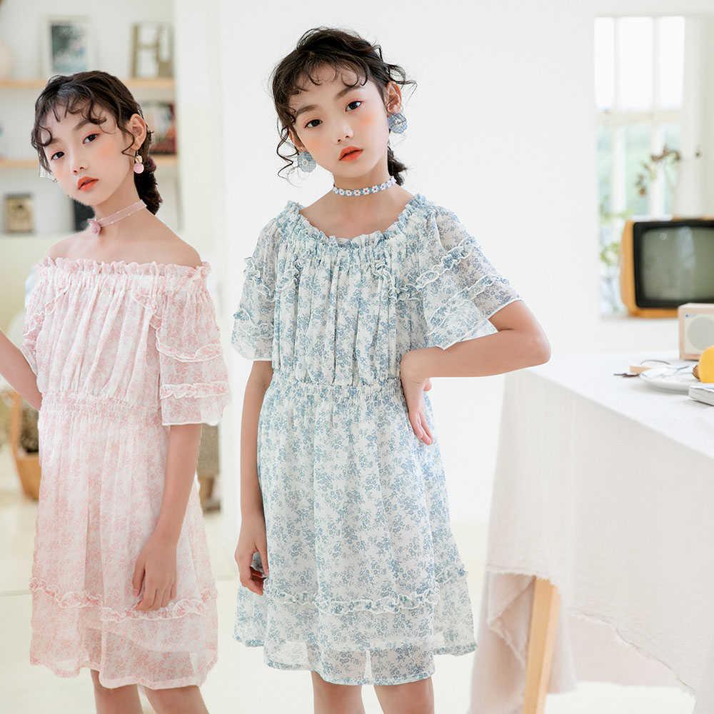 Teen Girls Summer Dresses 2020 New Fashion Girls Dresses Size 12 14 10 8 6 Years Pink Blue Baby Princess Dress For Girls Kids Dresses Aliexpress
