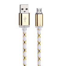 1 M Charger Cable LED Light Micro USB Charger Cable Charging Cord For Samsung galaxy s7 Edge For any Micro USB Phone(China)