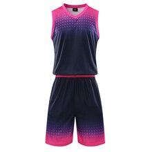 Для женщин и мужчин баскетбольные майки набор пустые баскетбольные форменные футболки Джерси Спортивная одежда комплект костюм печать на заказ