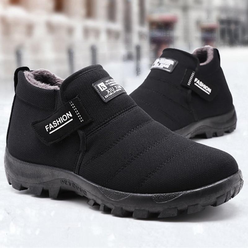 Men Winter Shoe Boots Comfortable Warm Snow Boots 2019 New Fashion Outdoor Snow Boots Male Casual Shoes Men Botas De Hombre