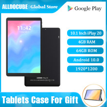 Alldocube IPlay20 4G Panggilan Telepon Tablet Andorid 10.0 Octa Core 4GB RAM 64GB ROM 10.1 Inci 1920*1200 Tablet PC Bluetooth 5.0(China)
