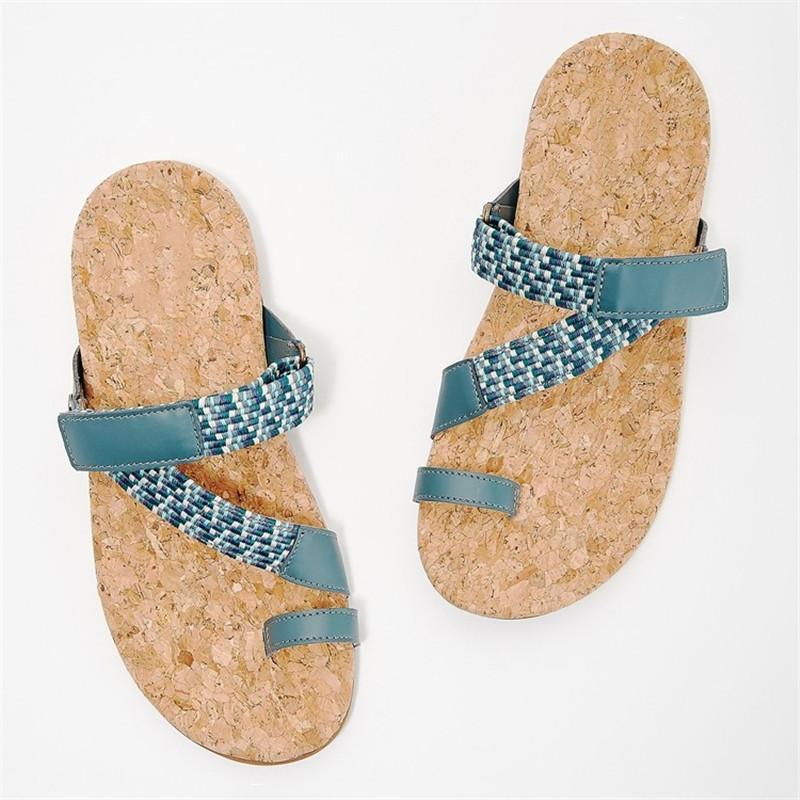 Summer Casual Slippers Women Shoes Flat Flip Flops Female Slippers Clip Toe 2021 Retro Summer Beach Slides Women Sandals