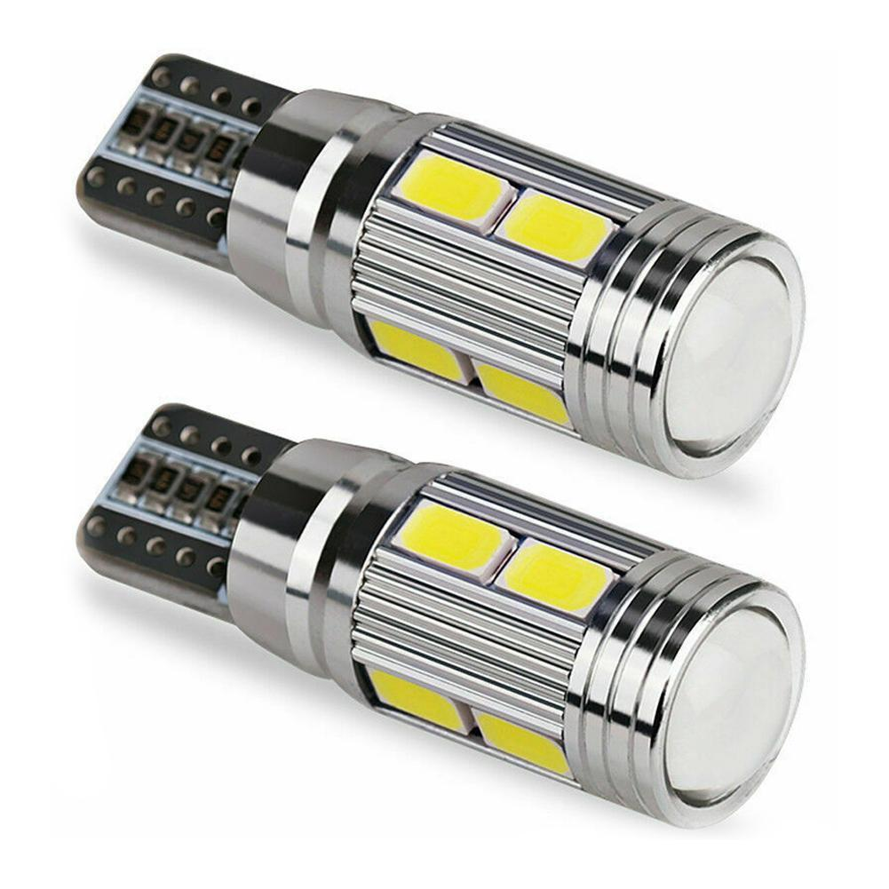 <font><b>T10</b></font> <font><b>10</b></font> <font><b>SMD</b></font> 5630 LED Projector Lens Auto Clearance Lights Car Parking W5W Marker Lamp LED Canbus 5730 1pc 501 10SMD Bulb L3B2 image