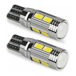 T10 10 SMD 5630 projecteur LED lentille Auto dégagement lumières voiture Parking W5W marqueur lampe LED Canbus 5730 1pc 501 10SMD ampoule L3B2