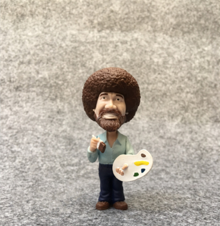Original Funko Secondhand BOB ROSS Vinyl Action Figure Collectible Model Loose Toy No Box