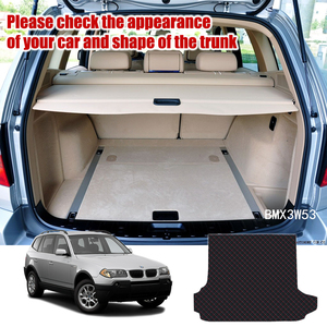 Image 2 - Leather Car Trunk Mat For BMW X3 E83 2003 2010 Trunk Boot Mat X3 Liner Pad xDrive18d BMW E83 Cargo pad Carpet Tail Cargo Liners