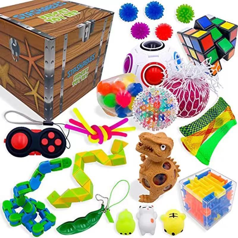 Fidget-Toy-Set Decompression Anxiety Relief Stress-Toy Sensory Adult for Kids img3