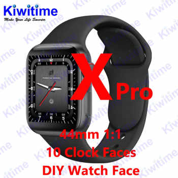 KIWITIME X Pro Bluetooth Smart Watch 1:1 SmartWatch 44mm Case for Apple iOS Android Heart Rate Pedometer DIY Function PK IWO 10 - DISCOUNT ITEM  10% OFF All Category