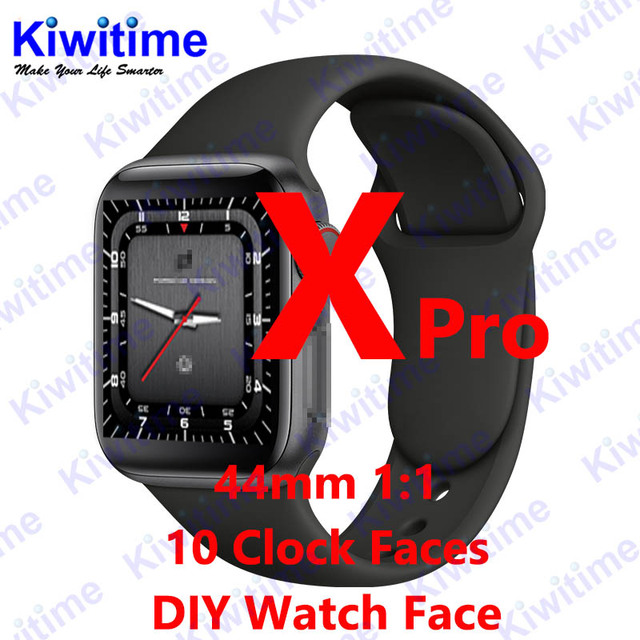KIWITIME X Pro Bluetooth Smart Watch 1:1 SmartWatch 44mm Case for Apple iOS Android Heart Rate Pedometer DIY Function PK IWO 10