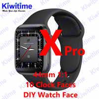 KIWITIME X Pro Bluetooth montre intelligente 1:1 SmartWatch 44mm boîtier pour Apple iOS Android fréquence cardiaque podomètre bricolage fonction PK IWO 10