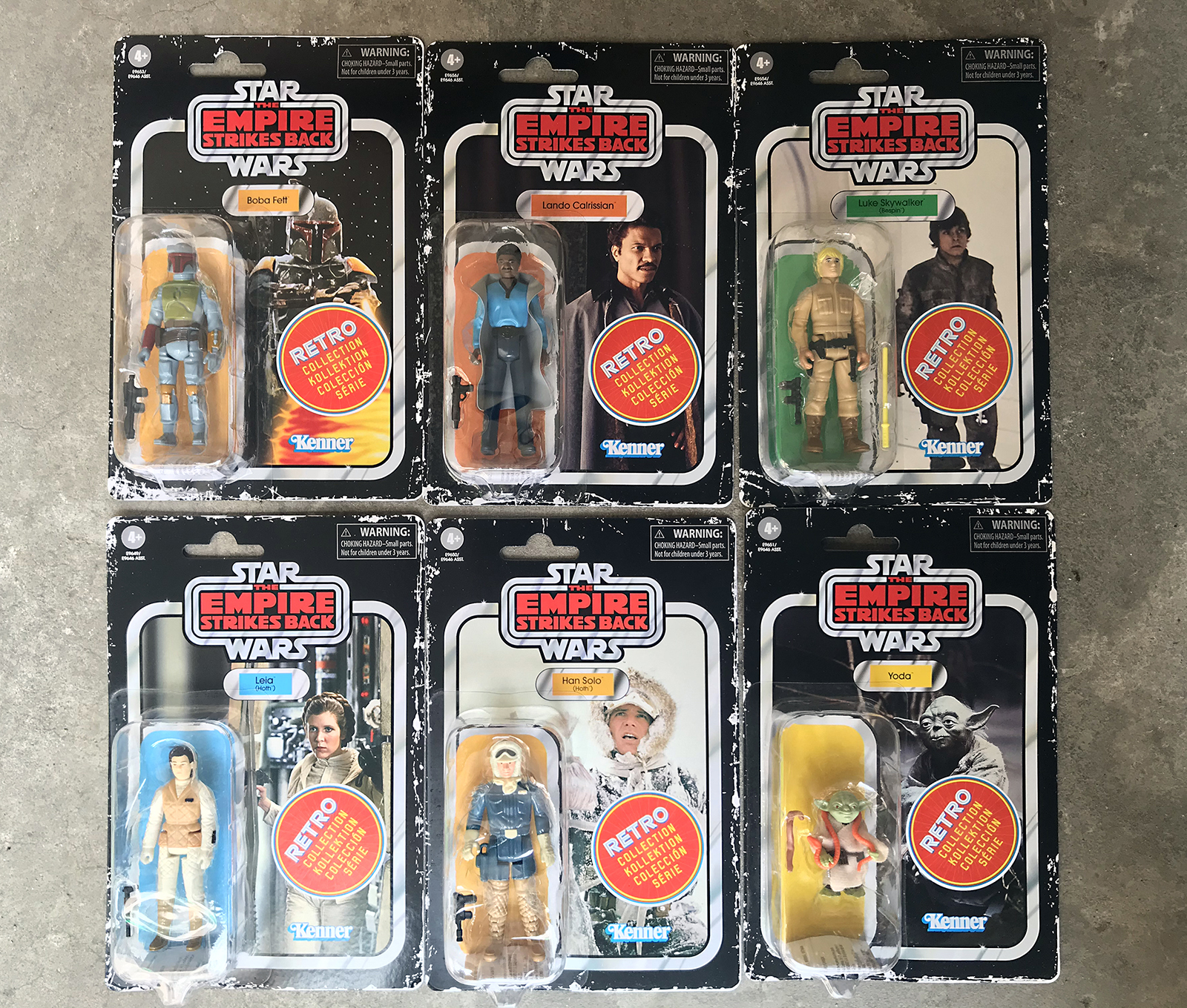 3.75inch Hasbro Star wars kenner Luke Skywalker Han Solo Leia Organa Solo Action Figure Collection toys for christmas gift