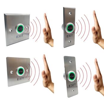 IP68 wodoodporna metalowa bezdotykowa bezdotykowa kontrola dostępu do drzwi na podczerwień przycisk wyjścia tanie i dobre opinie gzpzdp CN (pochodzenie) See Spec Infrared Exit Button Stainless steel NO NC COM Blue and Green
