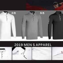 W Мужская Спортивная футболка с длинным рукавом для гольфа, 3 цвета, одежда для гольфа, S-XXL на выбор, одежда для гольфа