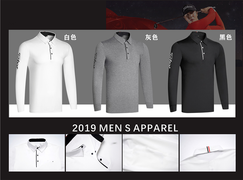 W  Men's Sportswear Long-sleeved Golf T-shirt 3colors Golf Apparel S-XXL Choose Leisure Golf Clothing Free Shipping