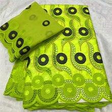 Африканский Базен riche ткань с бисером Последняя мода базин с вышивкой и кружевом ткань с сеткой кружева 7 ярдов HL041602