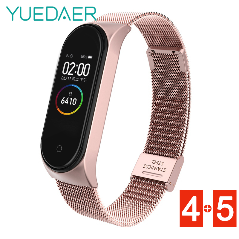 Metal Stainless Steel Wrist Strap For <font><b>Xiaomi</b></font> <font><b>Mi</b></font> <font><b>Band</b></font> 5 <font><b>4</b></font> Bracelet <font><b>Mi</b></font> <font><b>Band</b></font> 5 <font><b>4</b></font> Metal Strap <font><b>Mi</b></font> Band4 5 <font><b>Correa</b></font> Miband4 Accessorie image