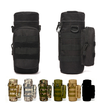 Military Kettle Bag for Molle Tactical Backpack Army Water Bottle Bag Pouch Outdoor Hunting Hiking Waist Kettle Pouch Waist Bag 2