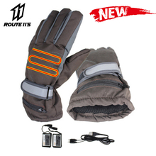 Waterproof Motorcycle Gloves Moto Heating USB Hand Warmer Electric Heated Gloves Battery Powered Thermal Heated Guantes stylish usb heated warm gloves purple white pair