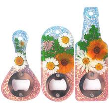 DIY Bottle Opener Kit with Parts Silicone Casting Mold Soft Keychain Baking Pan Mould for Craft Pendant Decoration H88F
