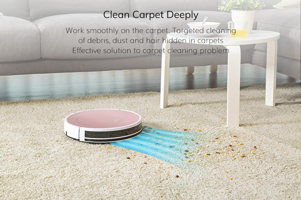 H352d771579a4470086a5eff6b5600771v ILIFE V7s Plus Robot Vacuum Cleaner Sweep and Wet Mopping Disinfection For Hard Floors&Carpet Run 120mins Automatically Charge