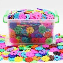 Building Blocks 1200pcs Plastic Snowflake Blocks Educational Toys for Children 3D Puzzles Construction Baby Game Toys Kids