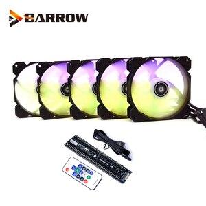 Барроу ШИМ вентилятор размер 120*120 мм вентилятор использовать для радиатора чехол компьютера с 5V A-RGB светильник 6PIN заголовок/поддержка матер...