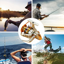 Superior Wheel Spinning Fishing Reel 12BB Bearing Balls 500-9000 Series Metal Coil Spinning Reel Boat Rock Fishing Wheel