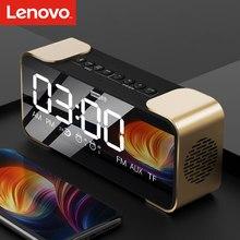 Lenovo bt alto-falante rádio despertador rádio digital despertador toque diy um-clique snooze bt chamada alto-falante rádio fm para o quarto