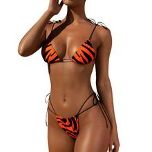 Bikini 2020 nowy jednokolorowy strój kąpielowy kobiety stroje kąpielowe zestaw Bikini Push-Up Bandeau bandaż Bikini Set Push-Up brazylijskie stroje kąpielowe kostiumy kąpielowe tanie tanio CN (pochodzenie) Stałe Osób w wieku 18-35 lat W połowie pasa Drut bezpłatne WOMEN Pasuje prawda na wymiar weź swój normalny rozmiar