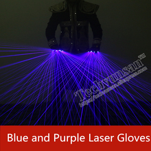 Blue purple laser gloves Individuality creativity Stage props Luminous gloves Laser Dance Equipment for Music Festival
