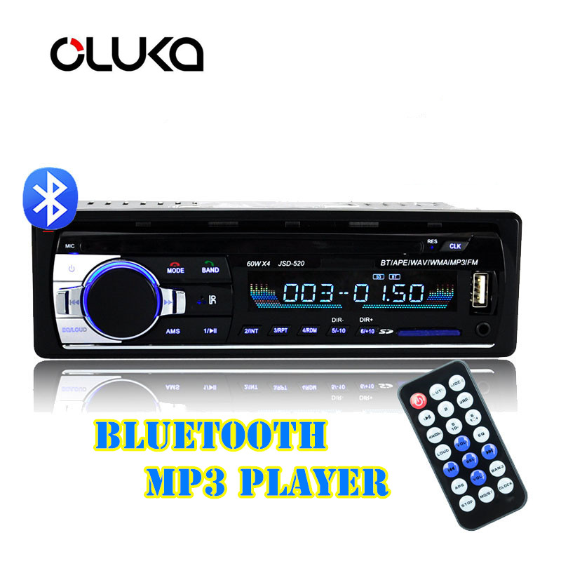 <font><b>Bluetooth</b></font> V2.0 Stereo <font><b>Autoradio</b></font> <font><b>Car</b></font> <font><b>Radio</b></font> 12V In-dash <font><b>1</b></font> <font><b>Din</b></font> FM Aux Input Receiver <font><b>SD</b></font> USB <font><b>MP3</b></font> MMC WMA <font><b>Car</b></font> Audio <font><b>Player</b></font> image