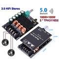 2*100W TPA3116D2 Audio Power Amplifier Bluetooth 5.0 Stereo HiFi Class D Digital TPA3116 Home Theater AUX Mini Music AMP