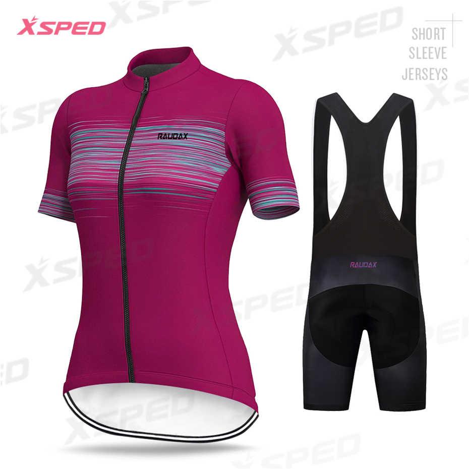 Женская одежда для велоспорта, костюм для шоссейного велосипеда с коротким рукавом, комплект из Джерси, одежда для горного велосипеда, Женская командная форма для триатлона MTB