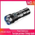 Tragbare LED Taschenlampe Micro USB Aufladbare Mini Taschenlampe Flutlicht Design IPX8 wasserdichte Über wärme Schutz Im Freien