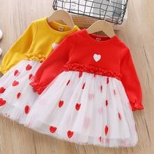 Little Kid Love Long Sleeve Tulle Smocked Dresses for Kids Wedding Dress for Kids Girls Princess Dress Toddler Girl Clothes