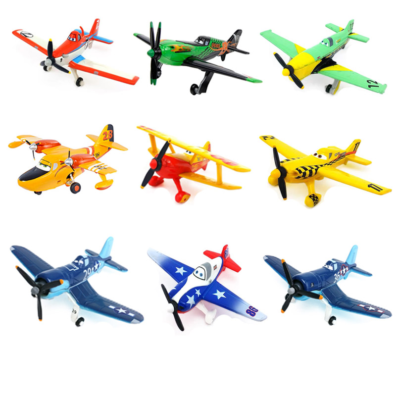 Original Disney Pixar cars 2 3 planes7 Dusty Strut Jetstream Metal Alloy Diecast Model Airplane Toys for Child Christmas Gift image
