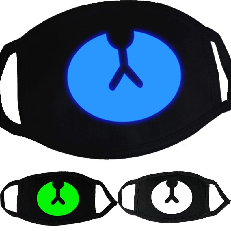 1 Pcs Cute Anime Bear Mask Night Glow In Dark Masquerade Cosplay Teeth Skull Masks Dustproof Face Mask KPOP