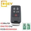 Умный Автомобильный ключ BHKEY KR55WK49264 для Volvo XC60 S60 S60L V40 V60 S80 XC70 KYDZ, 5 кнопок, 433 МГц, чип FSK ID46/7953