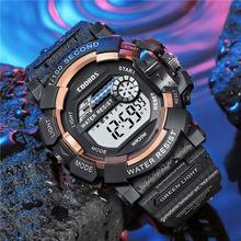 8-18 roku życia wojskowy zegarki sportowe dla dzieci 30M wodoodporny elektroniczny zegarek na rękę zegar cyfrowy zegarek dla dzieci dla chłopców dziewcząt A4108 tanie tanio Ctpor 3Bar Podwójny Wyświetlacz Żywica Klamra CN (pochodzenie) Akrylowe 19cm Nie pakiet 35mm 12mm Auto data Kompletna kalendarz