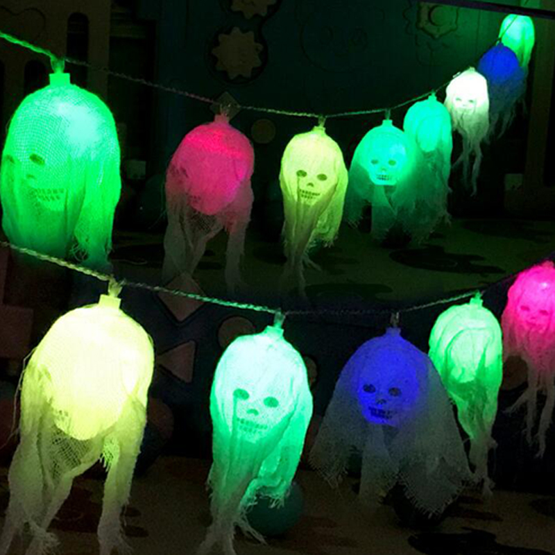Halloween Led String Light Ghost Skull Decorative Lights Fairy LED Garland Outdoor Indoor Decoration Battery Powered II