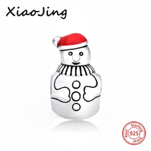 Fit Original Pandora pandora charms silver 925 original Snowman Beads Jewelry Making bracelet DIY Gift