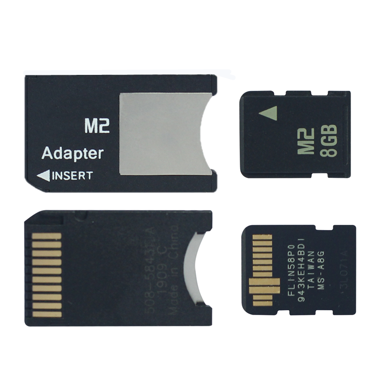 Big Promotion!!! 8GB M2 Memory Card 8G -64MB Memory Stick With Free M2 Card Adapter MS PRO DUO M2 Memory Card For Camera Phone