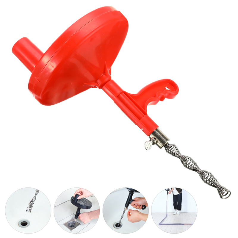 Sink Pipe Drain Cleaner Auger Plunger With 5M 7M Snake Cable Bathroom Cleaning Dredging Tool Sewer Brush