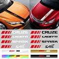 Автомобильные аксессуары, автомобильная накладка на головку двигателя, ПВХ наклейки для Chevrolet Captiva Lacetti Spark Cruze Malibu Trax Sonic Sail Aveo SS Z71