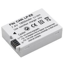 Probty LP E8 LPE8 LPE8 baterie do aparatu AKKU Pack dla Canon 550D 600D 650D 700D X4 X5 X6i X7i T2i T3i T4i T5i lustrzanka cyfrowa
